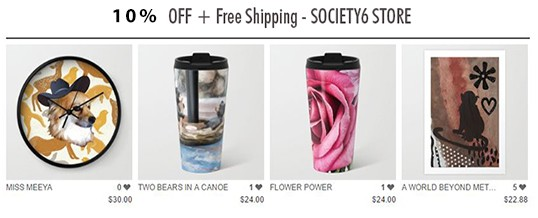 10% off + Free Shipping on Everything in Society6 Store