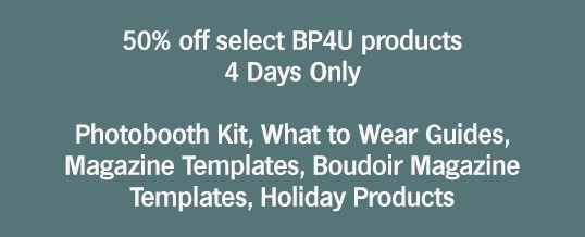50% off Sale on Select BP4U Photography Products