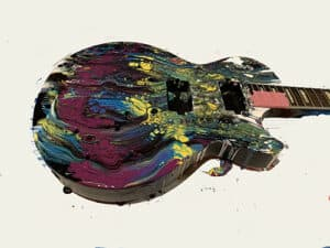 Guitar painted